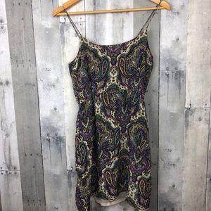 J.Crew silk blouson dress in royal paisley